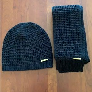 Michael Kors Scarf and Beanie Set